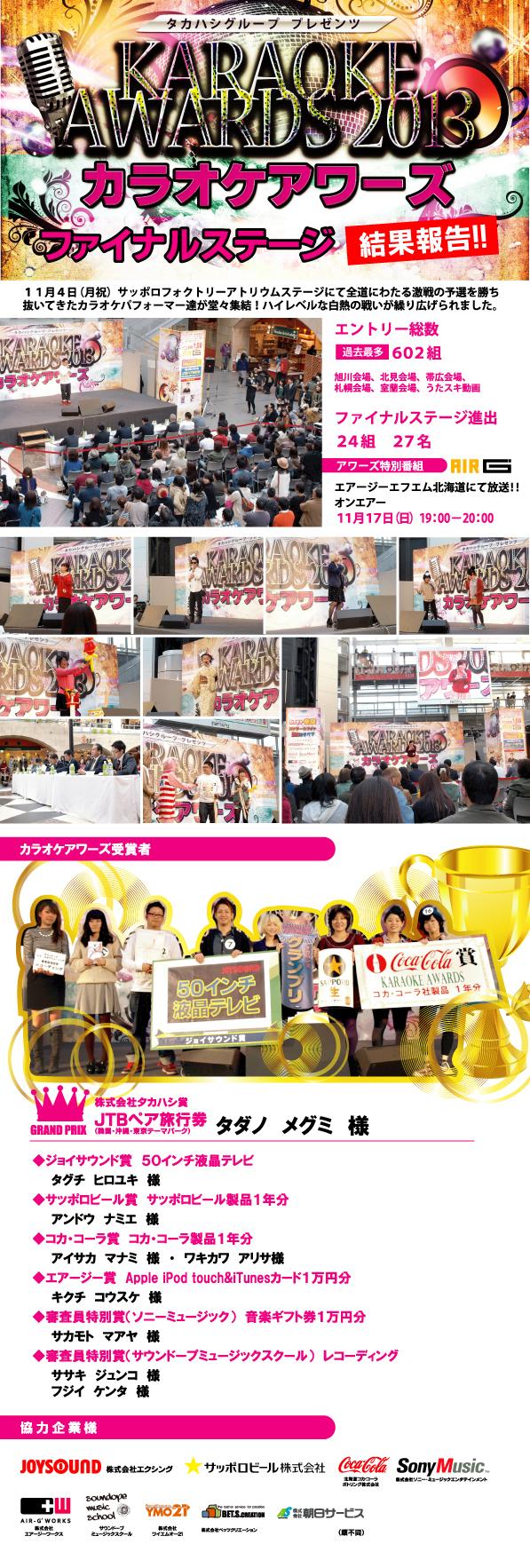 カラオケアワーズ2013 ファイナルステージレポート
